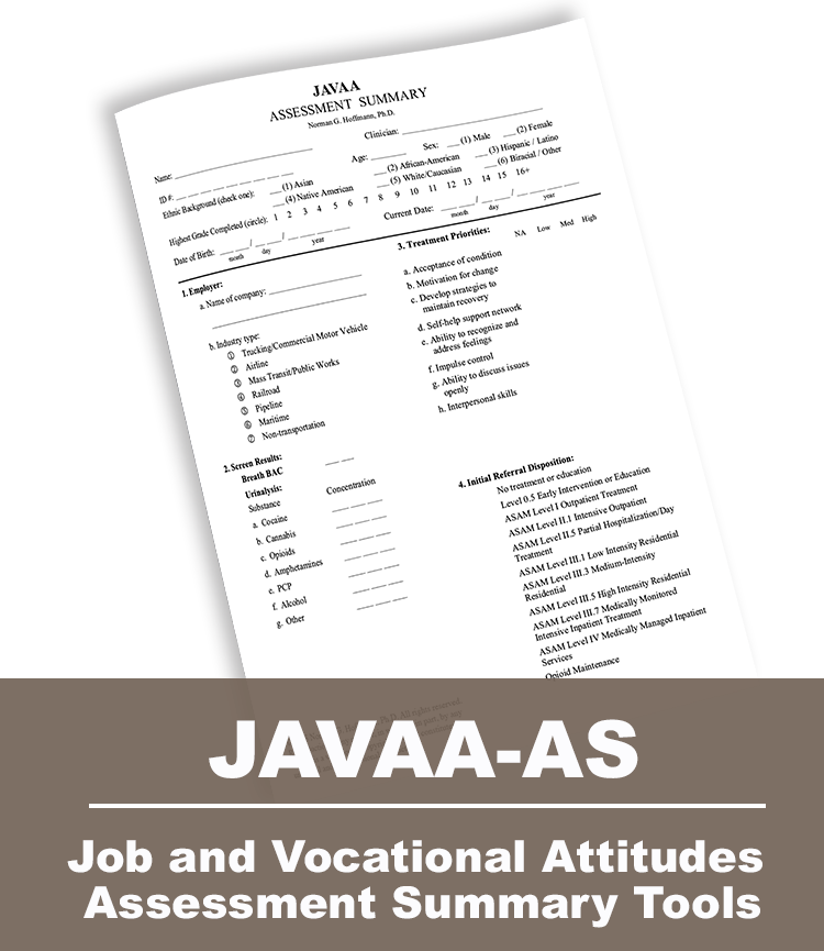 Job and Vocational Attitudes Assessment Summary Tools