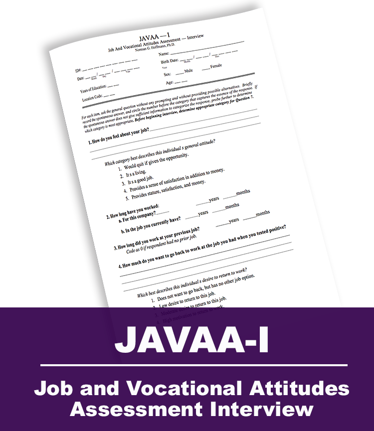 Job and Vocational Attitudes Assessment Interview