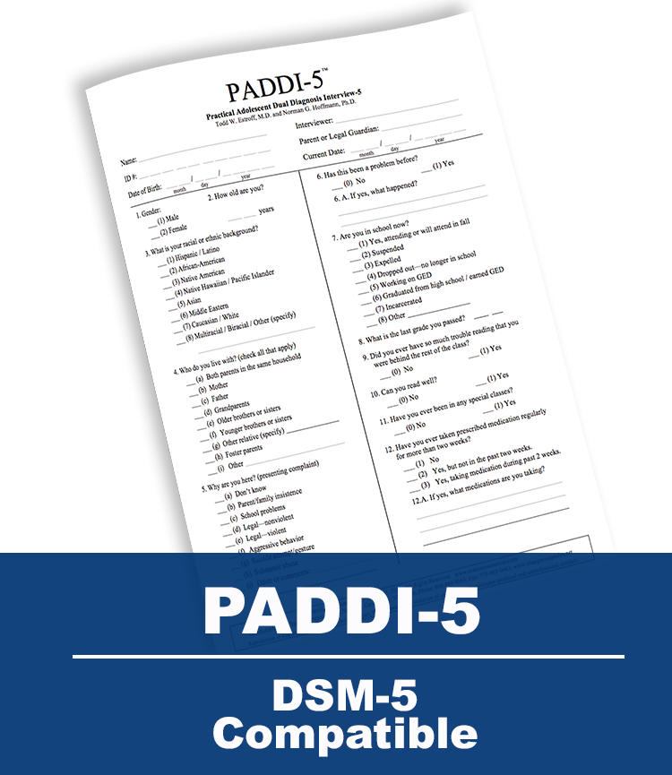Practical Adolescent Dual Diagnostic Interview-5 (PADDI-5)
