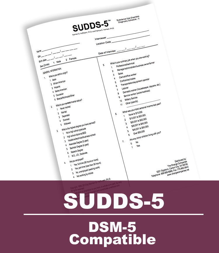 Substance Use Disorder Diagnostic Schedule-5 (SUDDS-5)