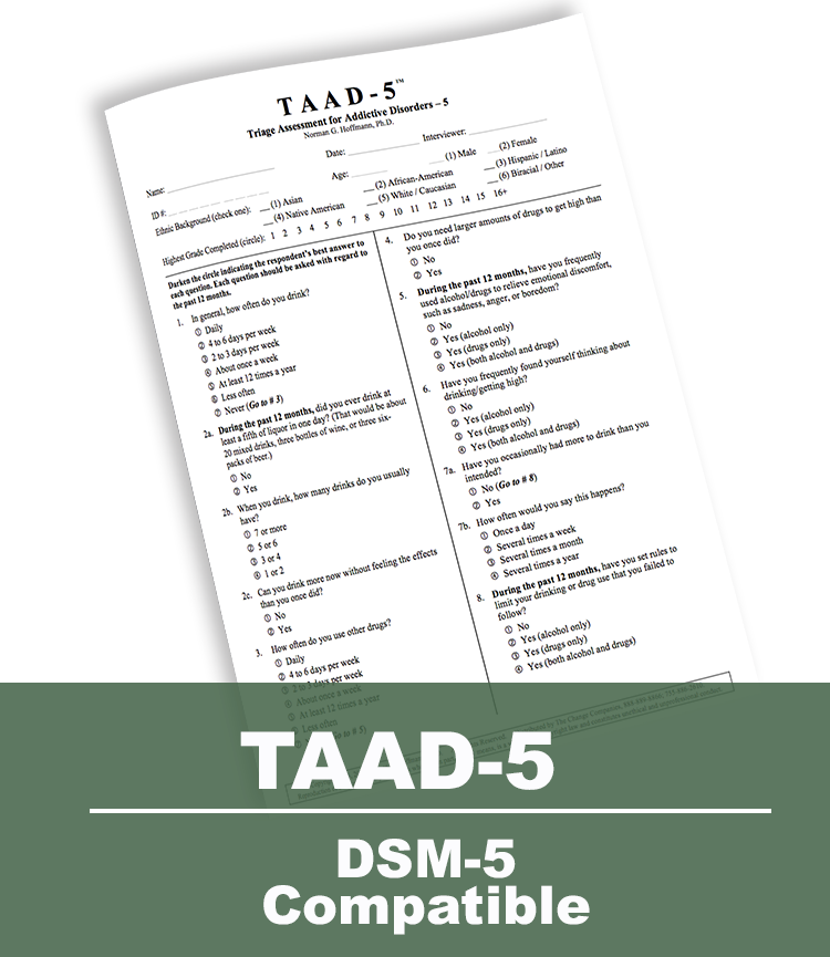 Triage Assessment for Addictive Disorders-5 (TAAD-5)